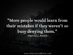 How do we ever know if we've made mistakes if we ignore all criticism?